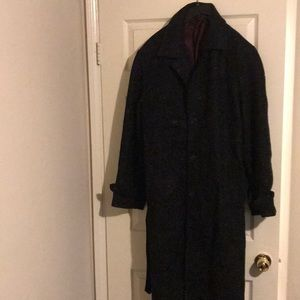 Vintage Wool trench coat made in Uruguay